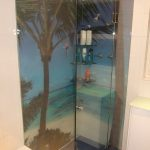 Printed Glass Shower screens in adelaide