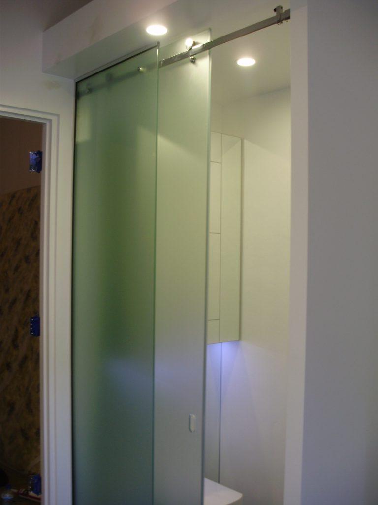 Chrome bathroom shelves