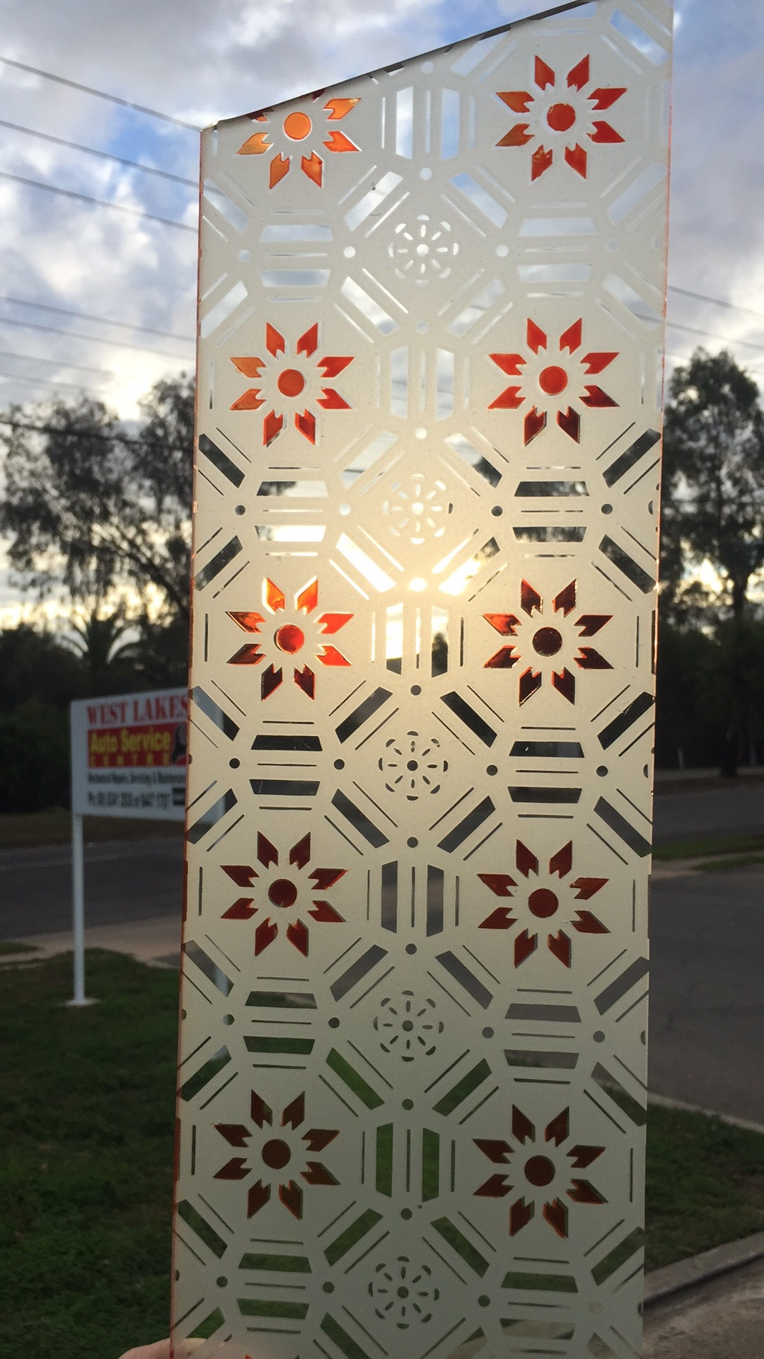1920's glass reproduced in Adelaide.