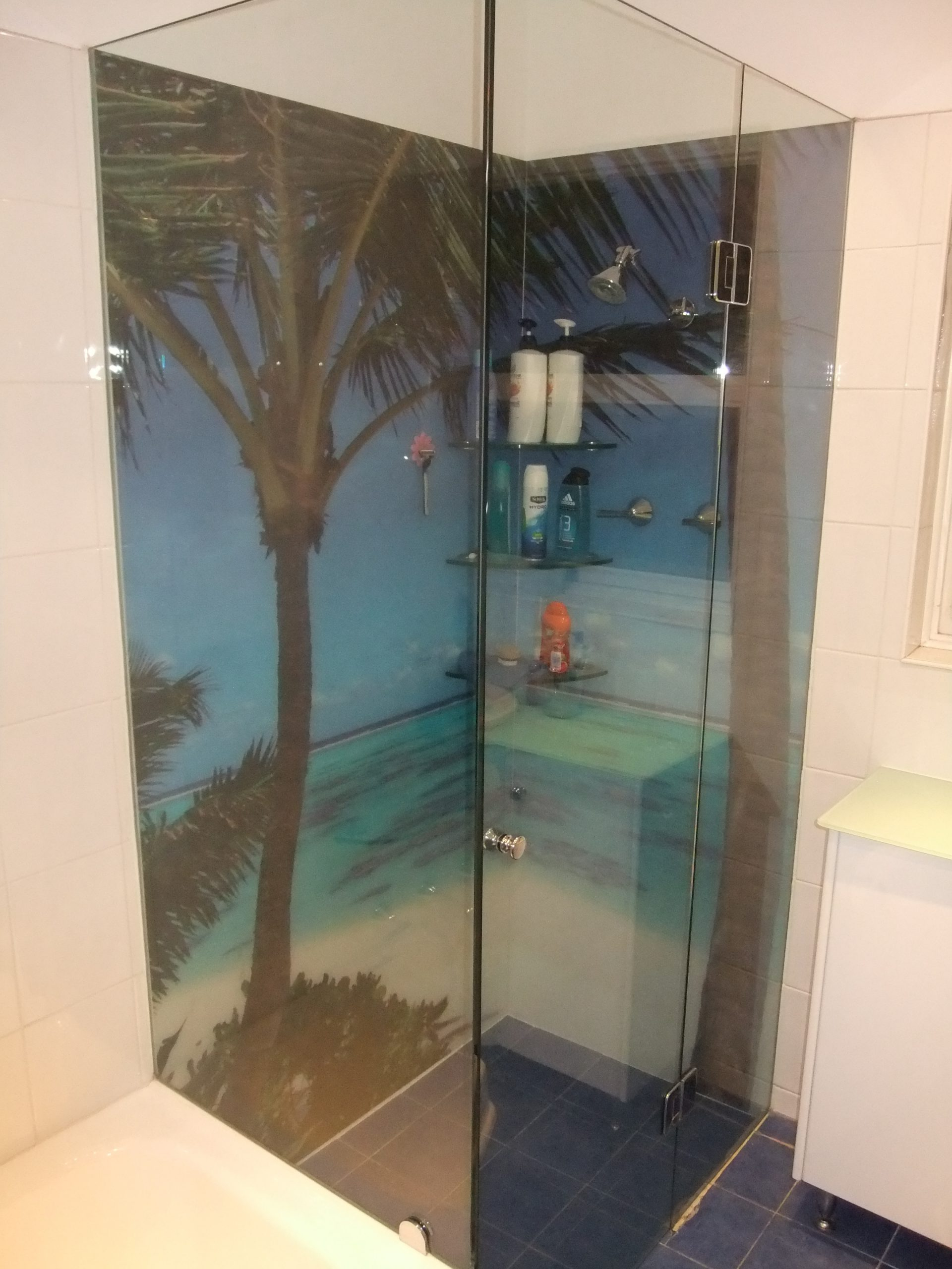 Printed wall Shower screens Adelaide