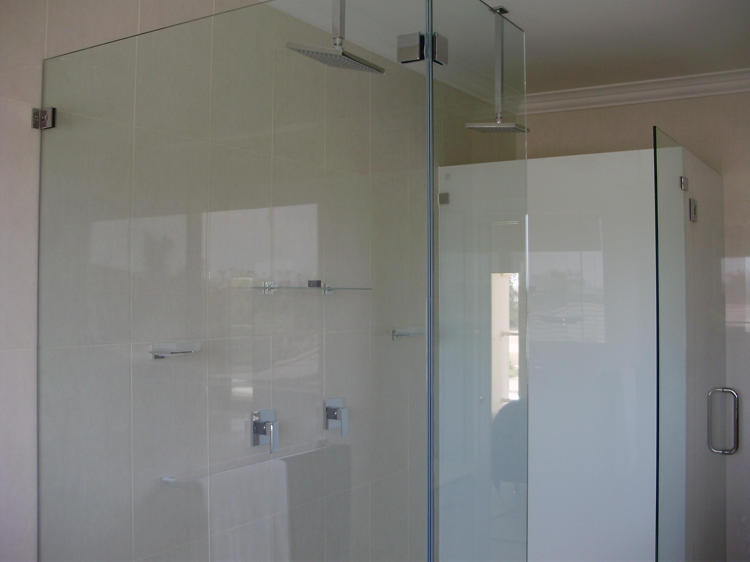 Frameless shower screens installed-