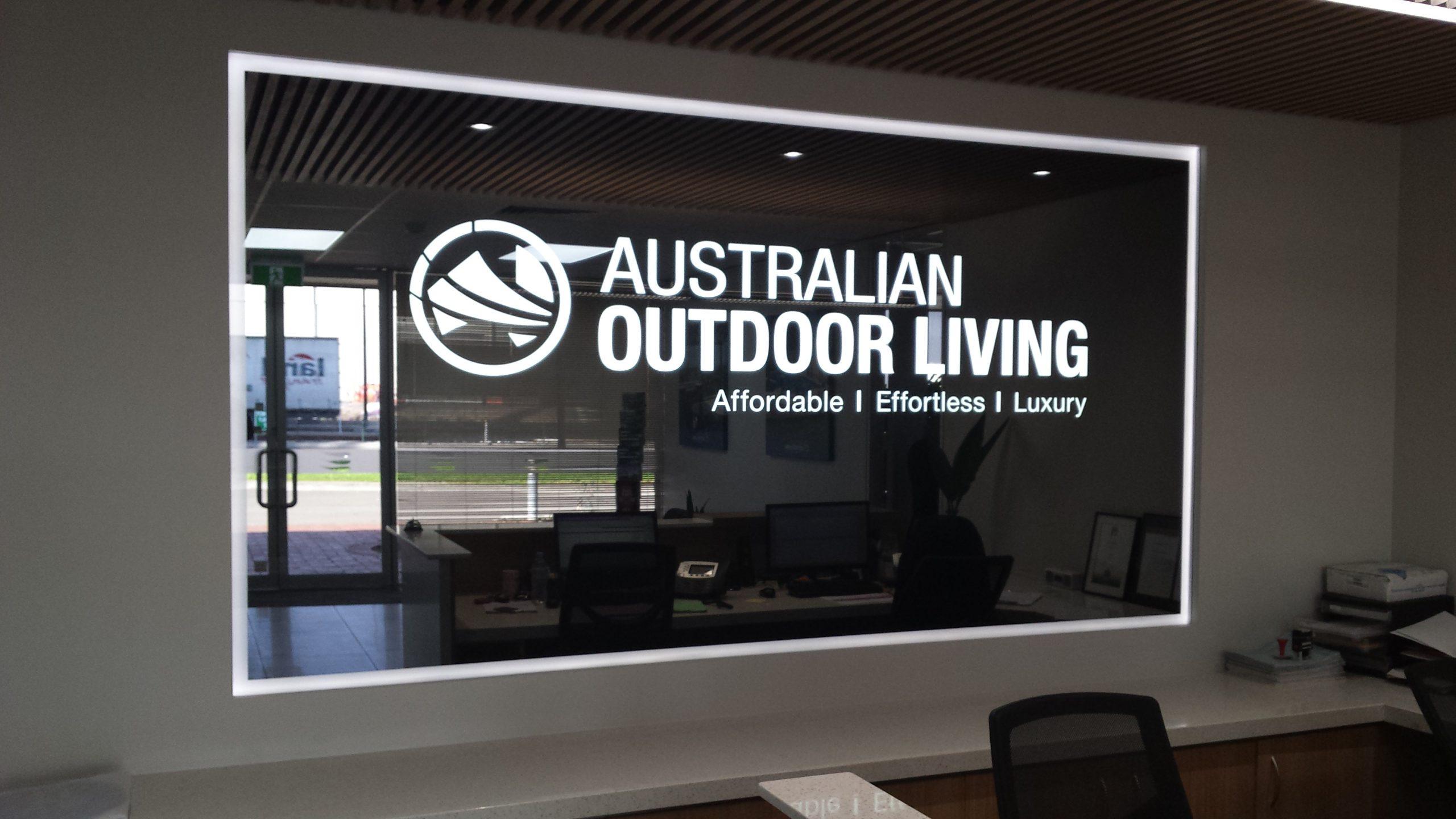 Glass Logo - Australian Outdoor Living