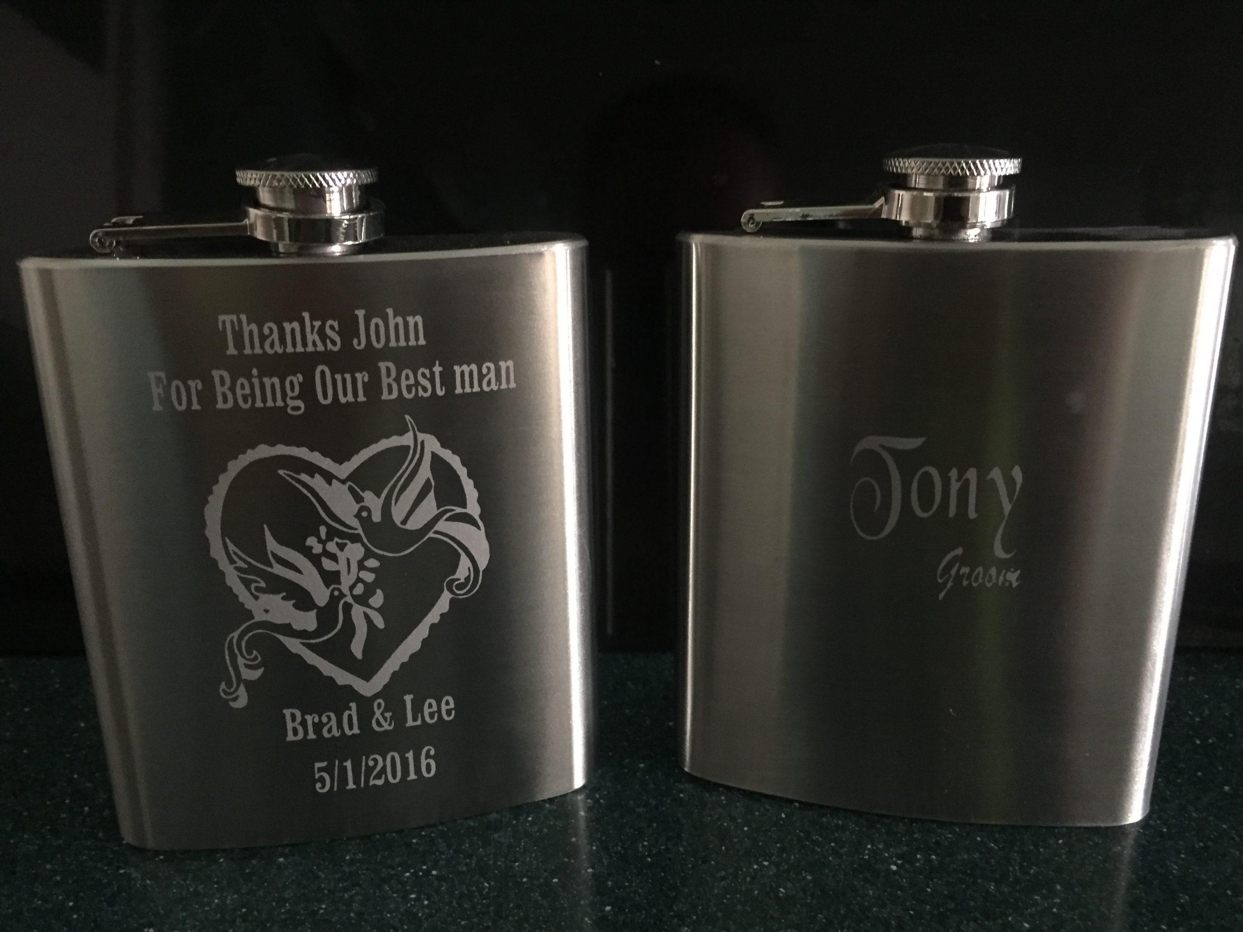 Steel Hip Flask Giftware